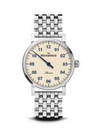 Meistersinger Phanero Mechanisch horloge Ivoor - 35mm
