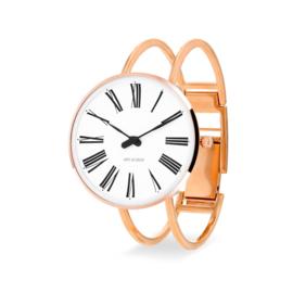 Arne Jacobsen Roman Horloge Rose Goud  34 mm