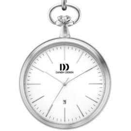 Danish Design Taschenuhr Stahl mit Datum 47mm