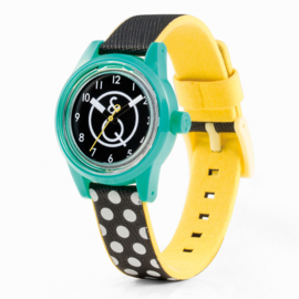 Q&Q Smile Solar Mini Savvy Dots Duurzaam Horloge 32mm