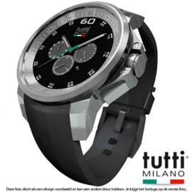 Tutti Milano Masso XL Chronograaf 48mm Zwart