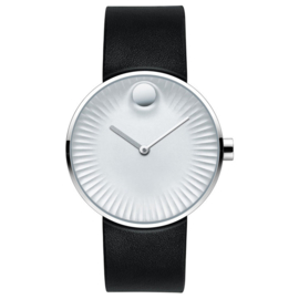 Movado Edge Silver Herenhorloge 40mm