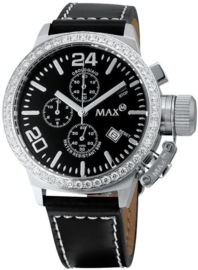 Max Watches Classic  Chronograph Uhr Edelstahl 42mm
