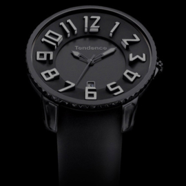 Tendence Gulliver Slim Horloge All Black 10ATM XL