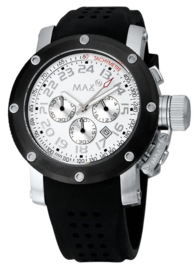 Max Watches Sports Chronograaf Horloge RVS 42mm