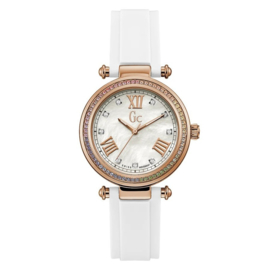Gc Watches Gc Prime Chic Silicone Swarovski Crystals Swiss Made 36mm