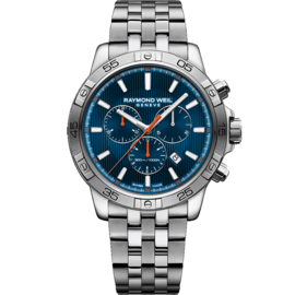 Raymond Weil Tango 300m Chronograaf Staal Saffier 43mm