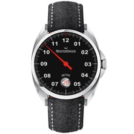 Meistersinger Metris Horloge Automaat Zwart - 38mm