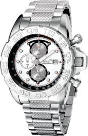 Max Watches GP Chronograaf Horloge RVS 45mm