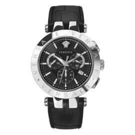 Versace V-Race Herenhorloge Chronograaf Saffier 42 mm