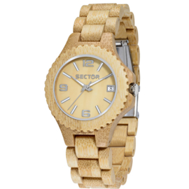 Sector Nature Sandel Houten Horloge 38 mm