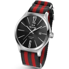 TW Steel TW1320 Slim Line Red Bond NATO Horloge 45mm