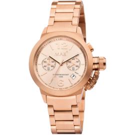Max Watches Artisan Chronograaf Horloge Rose RVS 44mm