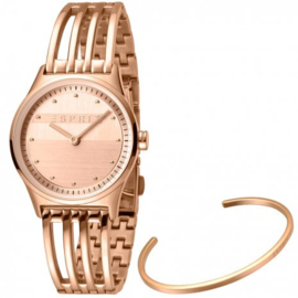 Esprit Unity Rose Gold Set horloge 30 mm