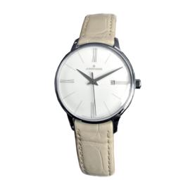 Junghans Meister Lady Quartz Horloge Beige Alligator 30mm