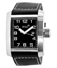 Max Watches Square Heren RVS Horloge 42mm