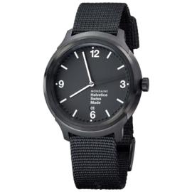 Mondaine Helvetica No.1 Bold NATO Horloge 43 mm