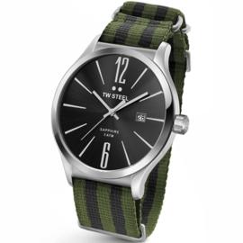 TW Steel TW1326 Slim Line Green Bond NATO Horloge 45mm