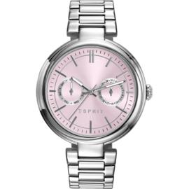 Esprit Ames Street Silver Tone Rose horloge 38 mm