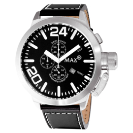 Max Watches XL Chrono Herrenuhr RVS 47mm
