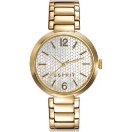 Esprit Gateview Ave Gold Tone horloge 34 mm