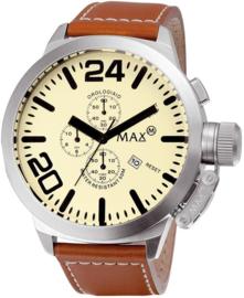 Max Watches XL Chronograaf Horloge RVS  47mm