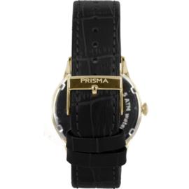 Prisma Multifunctie Herenhorloge Edelstaal Saffier 41mm