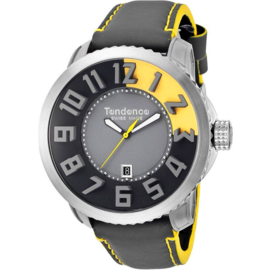 Tendence Swiss Made Uhr Grey/Yellow 10ATM XL