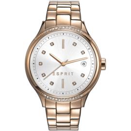Esprit Rachel Rose Gold Tone horloge 38 mm