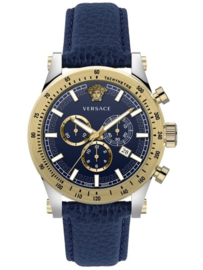 Versace VEV800219  Herenhorloge Chronograaf  Saffier 44 mm