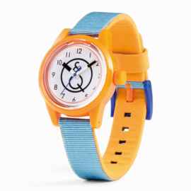 Q&Q Smile Solar Mini French Blue Duurzaam Horloge 32mm