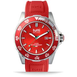 Tutti Milano Corallo Horloge Rood Large 42mm