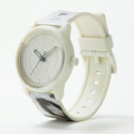 Q&Q Smile Solar Red List Snow Leopard Duurzaam Horloge 40mm