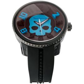 Tendence Gulliver Hydrogen Skull Horloge Zwart XXL
