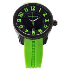 Tendence Gulliver Funky Horloge Black Green 10ATM L