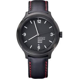 Mondaine Helvetica No1 New York Edition Red Horloge 43 mm