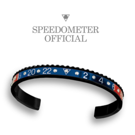 Speedometer Official Armband SBR1103BD Blue/Red Diamonds