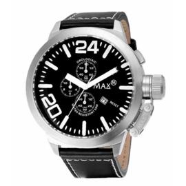 Max Watches XL Chronograaf Horloge RVS  52mm
