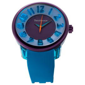 Tendence Fantasy Horloge Purple & Blue XXL