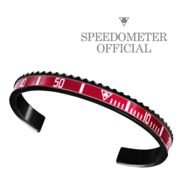 Speedometer Official Armband SBRXMASREDB  Black/Red