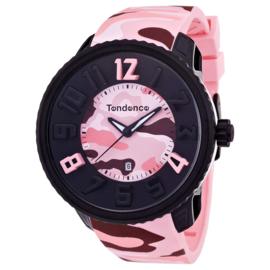 Tendence Gulliver Camouflage Horloge Pink 10 ATM XXL