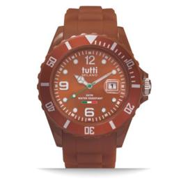 Tutti Milano Pigmento Horloge Bruin 42,5mm