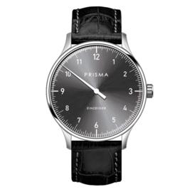 Prisma Design 'Einzeiger' Einzeigeruhr Grau 40mm