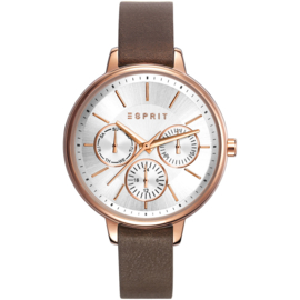 Esprit Melanie Gold Tone brown horloge 36 mm