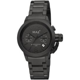 Max Watches Artisan Chronograaf Horloge Zwart RVS 44mm
