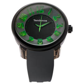 Tendence Fantasy Horloge Grey & Green XXL