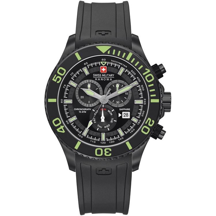 Swiss Military Hanowa Immersion Chrono Heren Horloge 46 mm