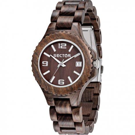 Sector Nature Sandel Houten Horloge 38 mm
