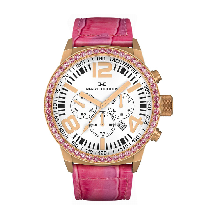 Marc Coblen MC42R4 Chronograaf Pink 42mm
