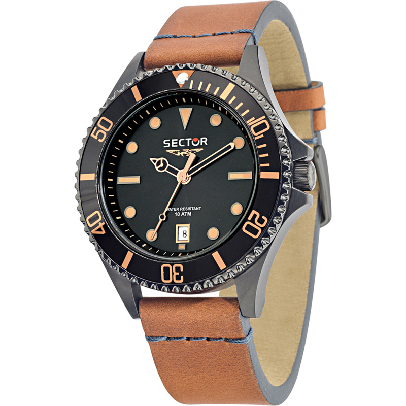Sector 235 Time & Date Heren Horloge 43 mm